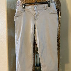 Lane Bryant Ankle Pant/Jean Gray